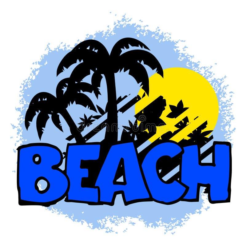 икона пляжа бесплатная иллюстрация