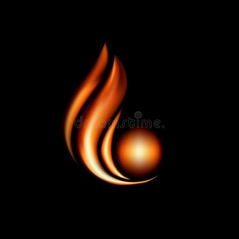 Икона пламени иллюстрация вектора