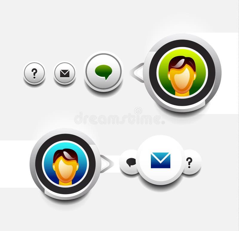 Икона потребителя с tooltip иллюстрация штока