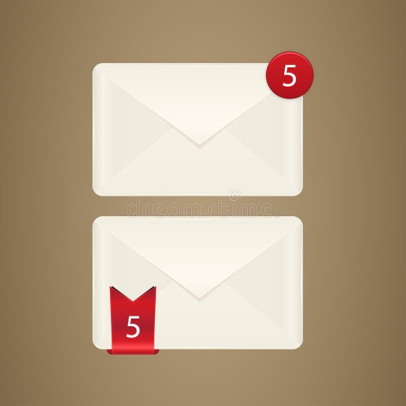 Икона почтового ящика иллюстрация штока
