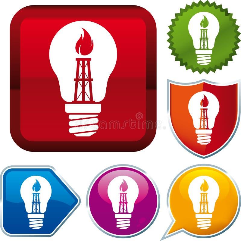 Икона природного газа иллюстрация штока