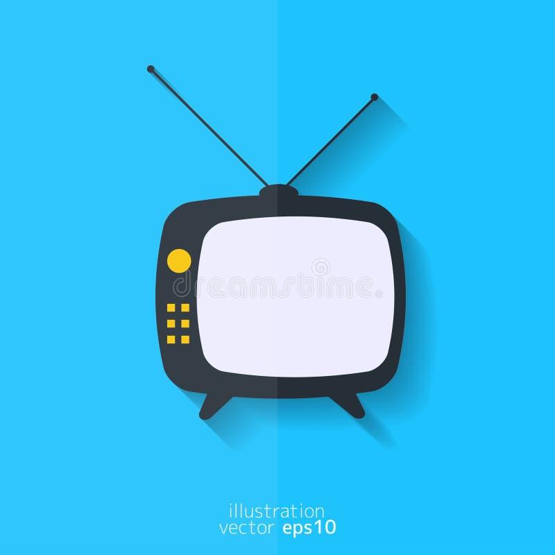 икона ретро tv Плоский дизайн бесплатная иллюстрация