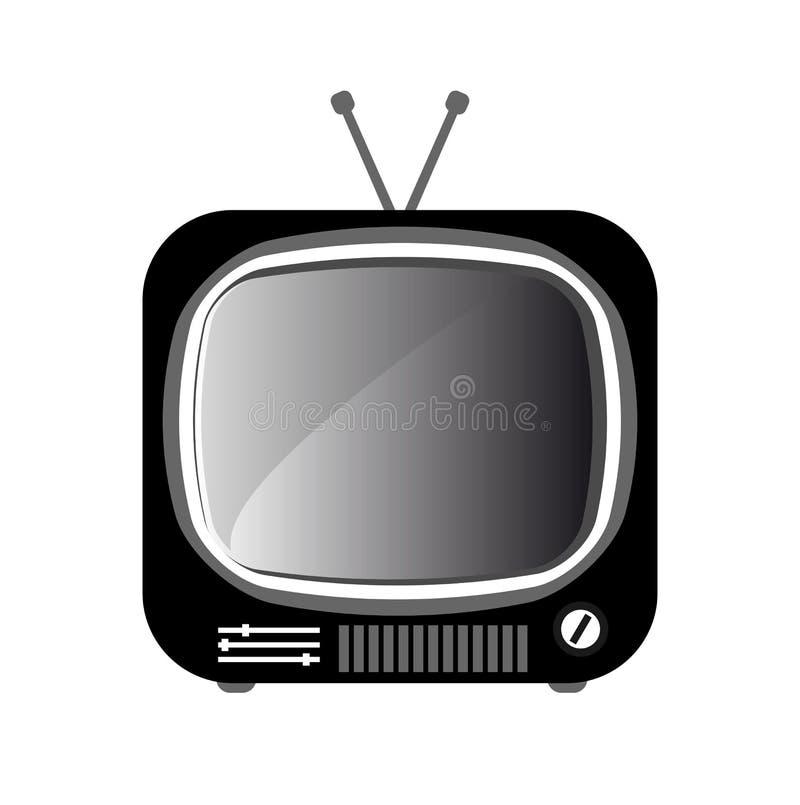 икона ретро tv иллюстрация штока