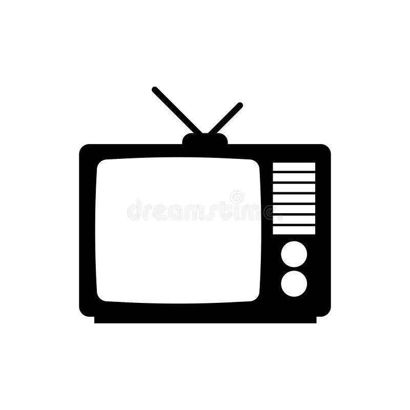 икона ретро tv иллюстрация вектора