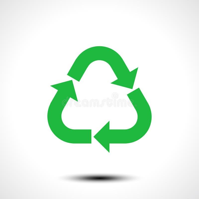 икона рециркулирует Eco рециркулирует символ знака изолированный на белой предпосылке иллюстрация вектора