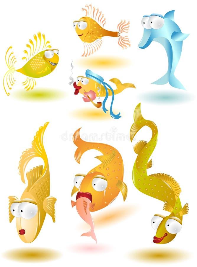 икона рыб лоснистая иллюстрация вектора