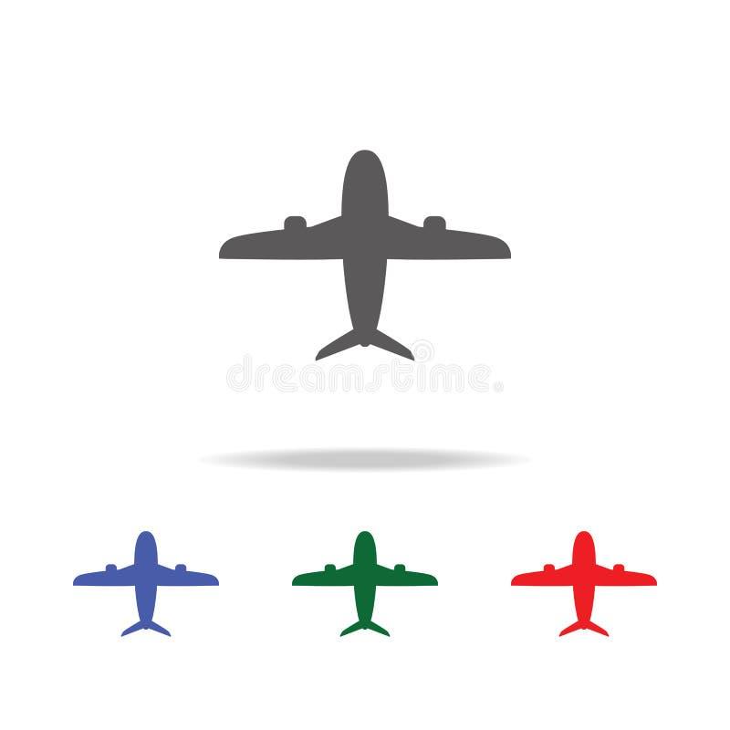 Икона самолета Элементы значков авиапорта multi покрашенных Наградной качественный значок графического дизайна Простой значок для бесплатная иллюстрация