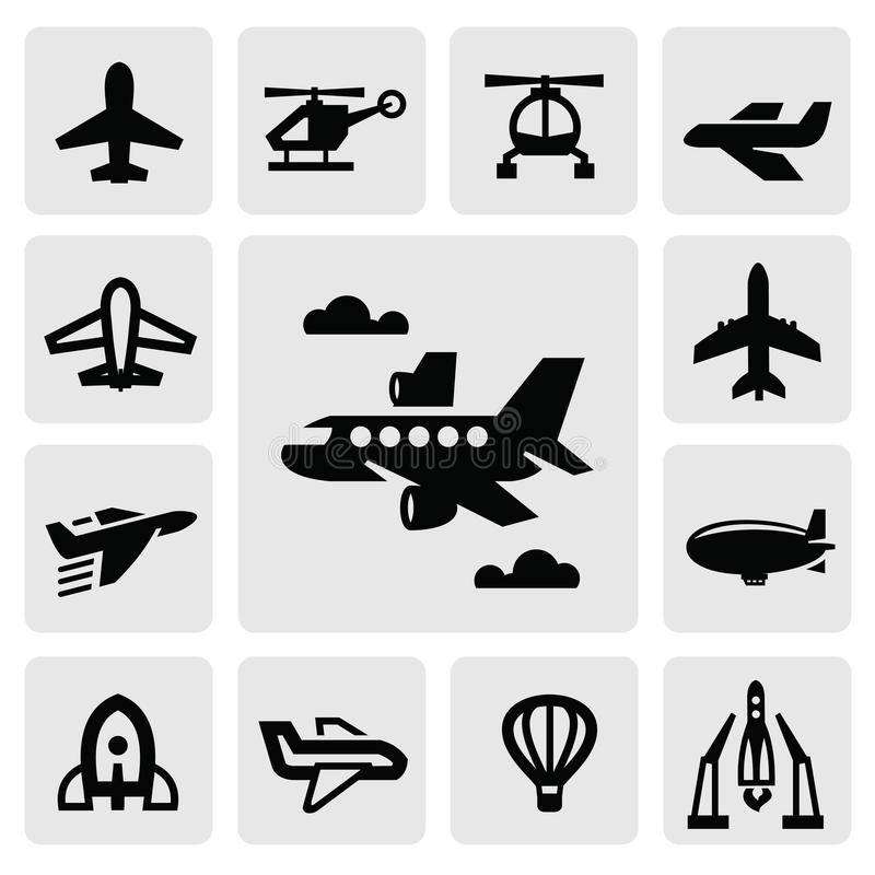 Икона самолета иллюстрация вектора