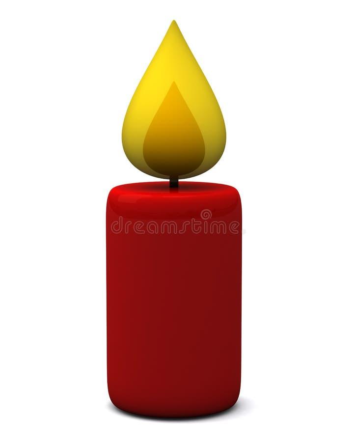 Икона свечки, 3d бесплатная иллюстрация