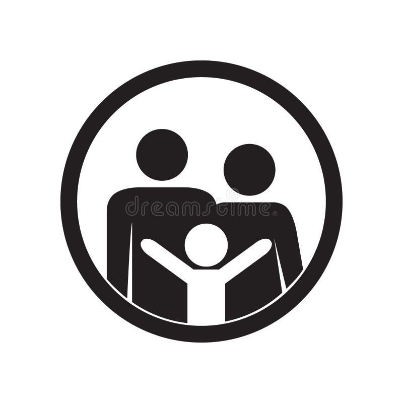 Икона семьи Родители и ребенк бесплатная иллюстрация