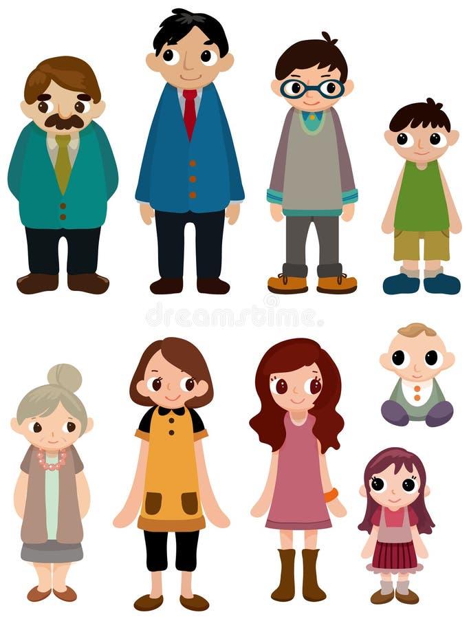 икона семьи шаржа иллюстрация вектора