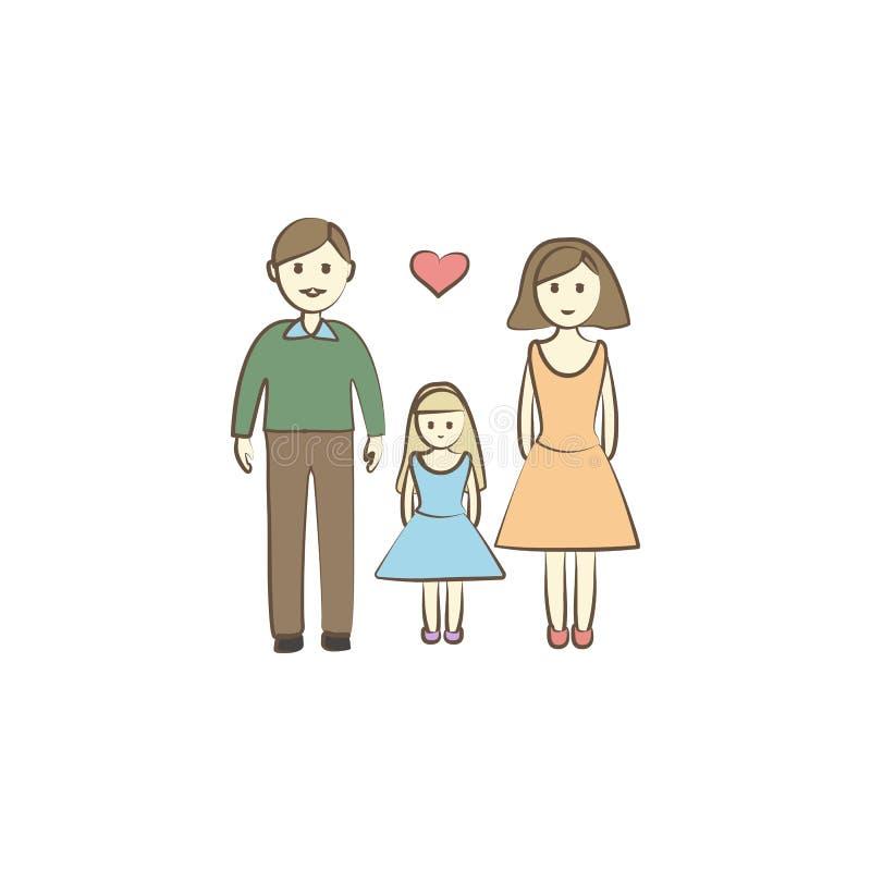 Икона семьи Элемент значка дня матери для передвижных apps концепции и сети Покрашенный значок семьи можно использовать для сети  бесплатная иллюстрация