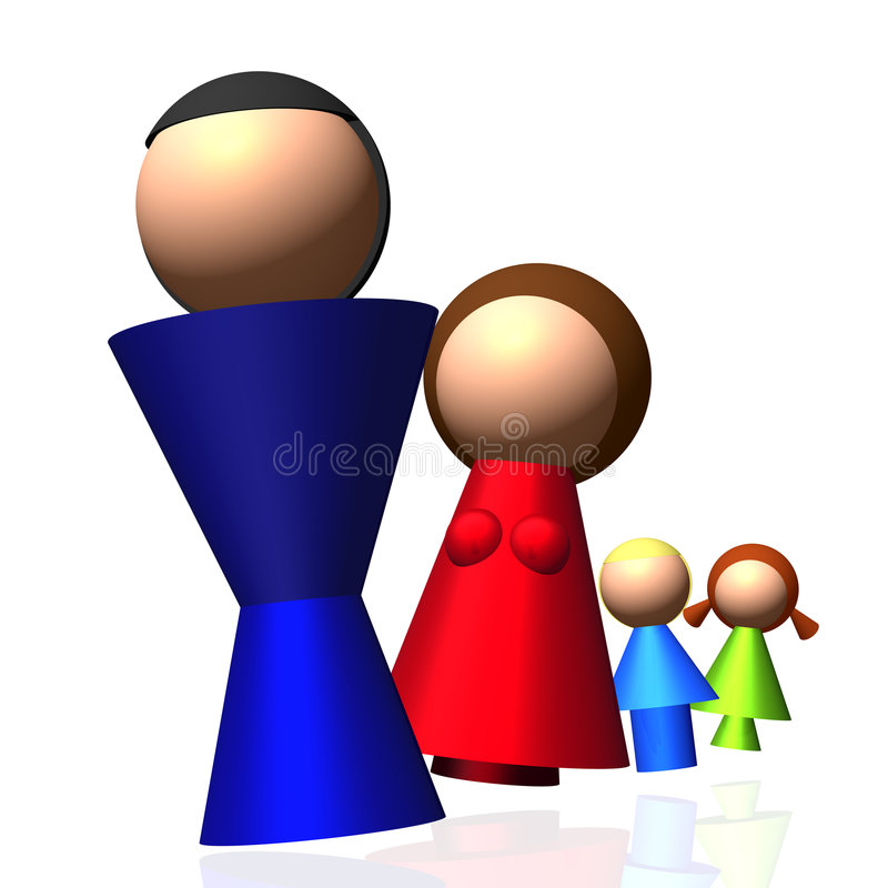 икона семьи 3d иллюстрация штока