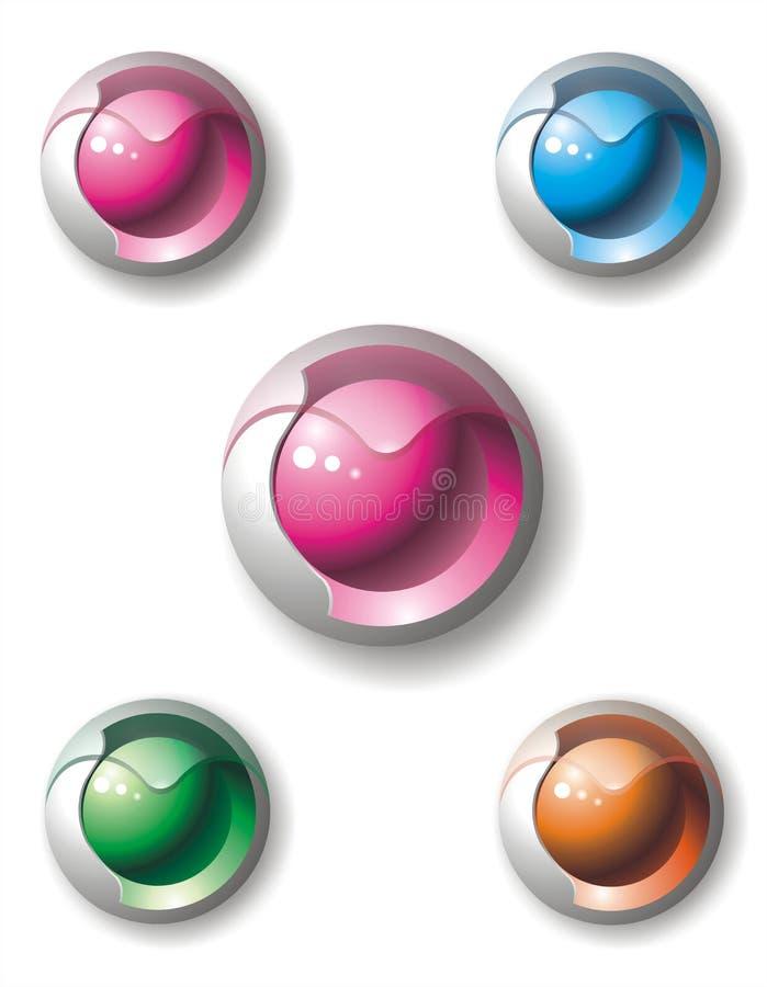 икона сердца кнопки иллюстрация вектора