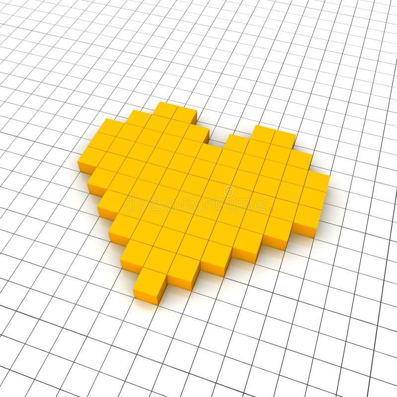 икона сердца решетки 3d иллюстрация штока