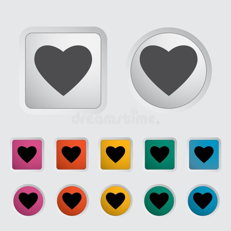 Икона сердца иллюстрация вектора