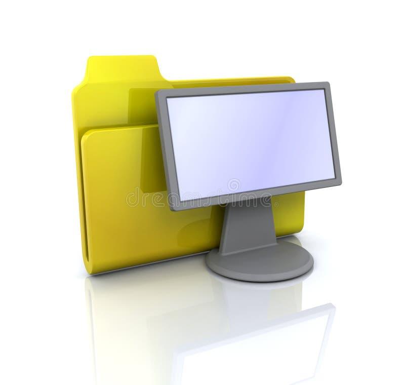 икона скоросшивателя дисплея иллюстрация вектора