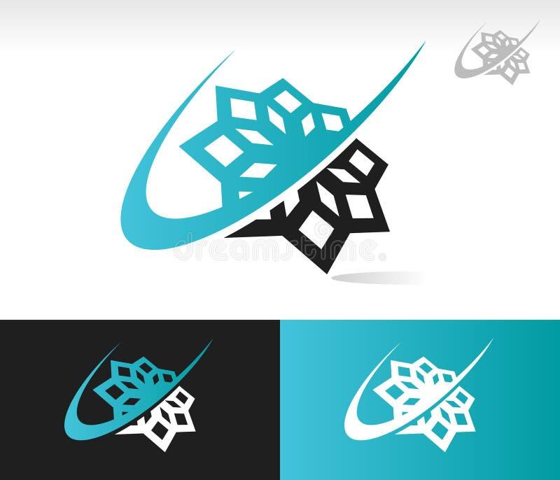Икона снежинки Swoosh иллюстрация вектора