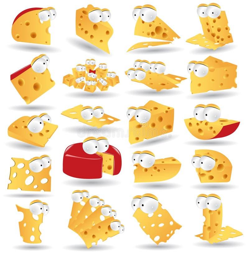 икона собрания сыра характера иллюстрация вектора