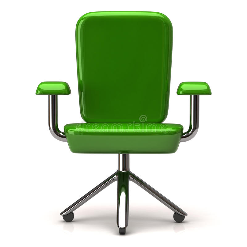 Икона стула офиса, 3d иллюстрация штока