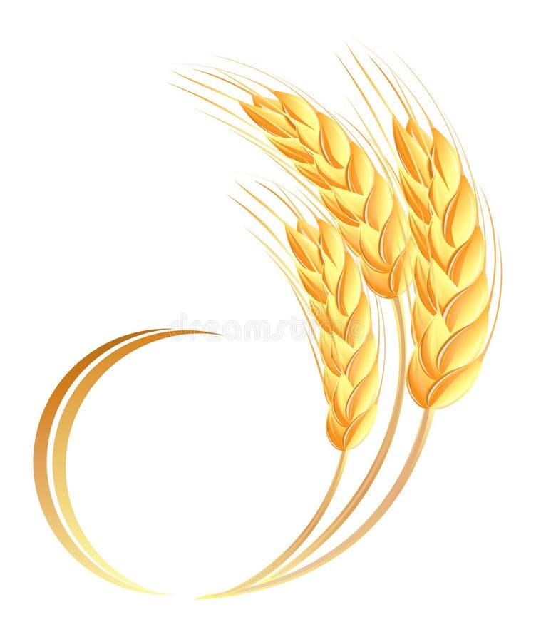 Икона ушей пшеницы стоковое фото