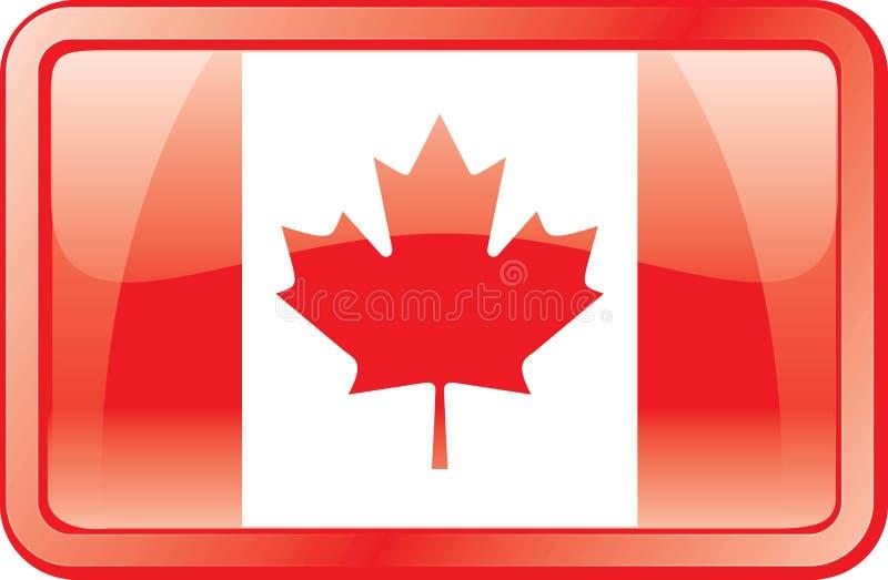 икона флага Канады иллюстрация вектора