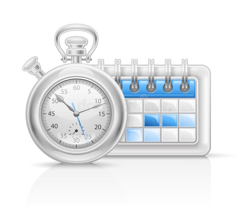 икона часов календара иллюстрация вектора
