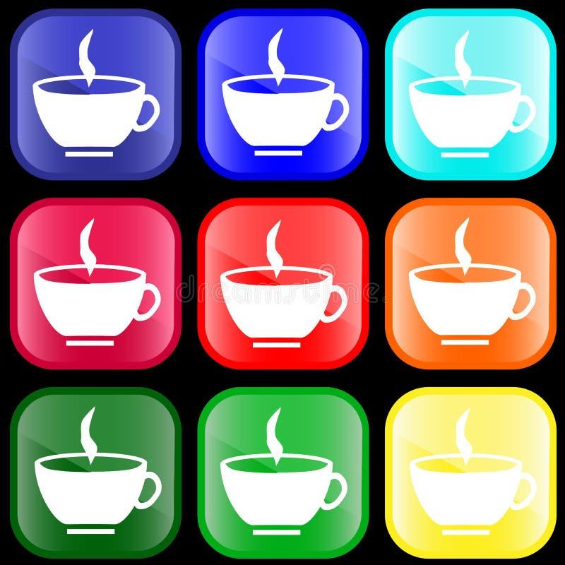 икона чашки кнопок иллюстрация штока