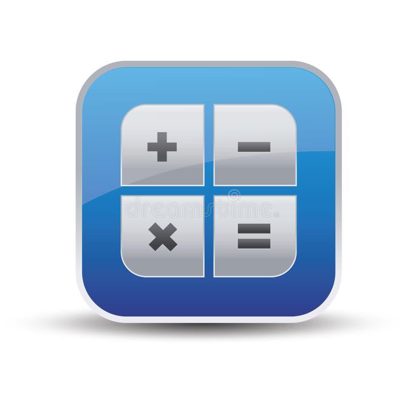 Икона чалькулятора - вектор app иллюстрация вектора