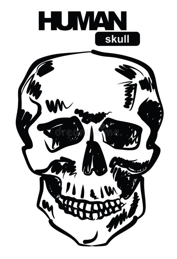 Икона черепа иллюстрация вектора