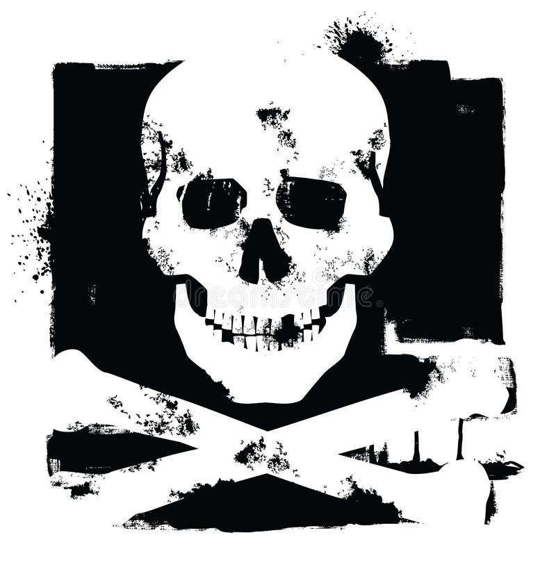 Икона черепа иллюстрация штока