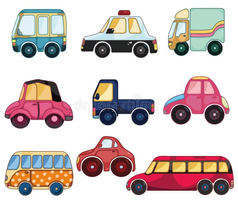 икона шаржа автомобиля иллюстрация вектора