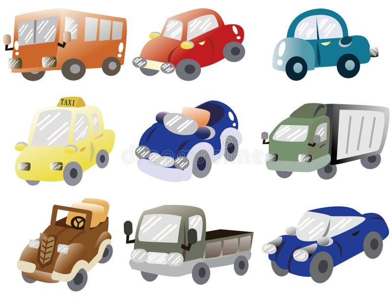 икона шаржа автомобиля иллюстрация штока