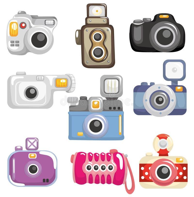 икона шаржа камеры иллюстрация вектора