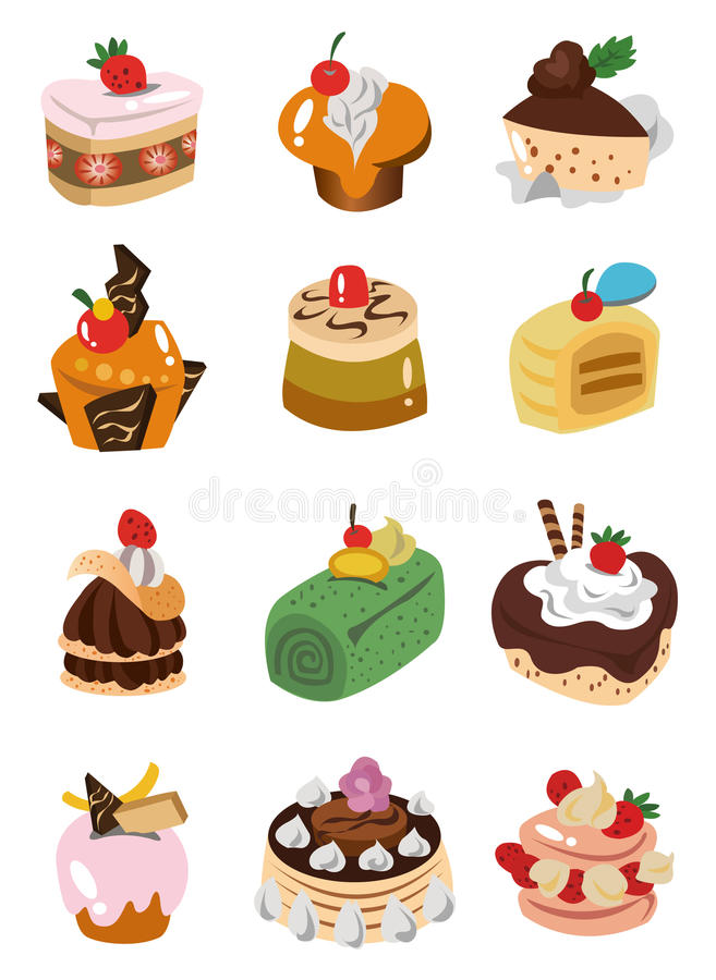 икона шаржа торта бесплатная иллюстрация
