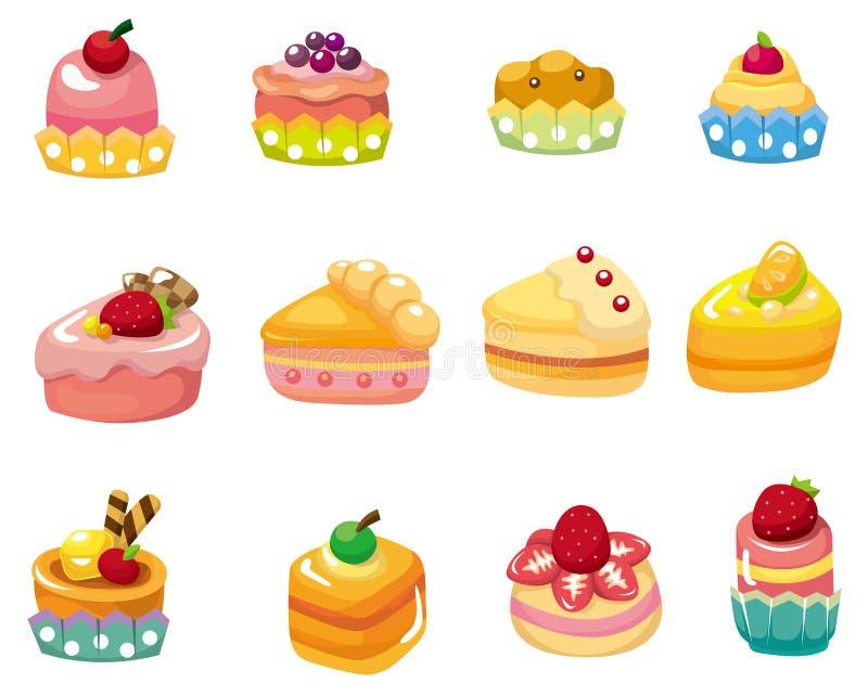 икона шаржа торта иллюстрация вектора
