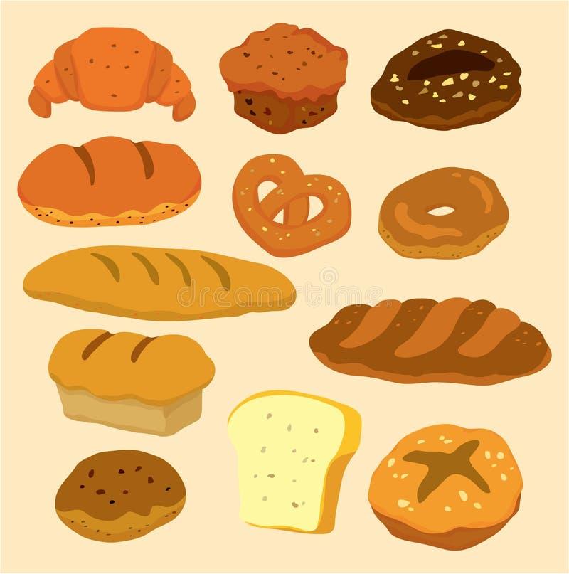 икона шаржа хлеба иллюстрация вектора