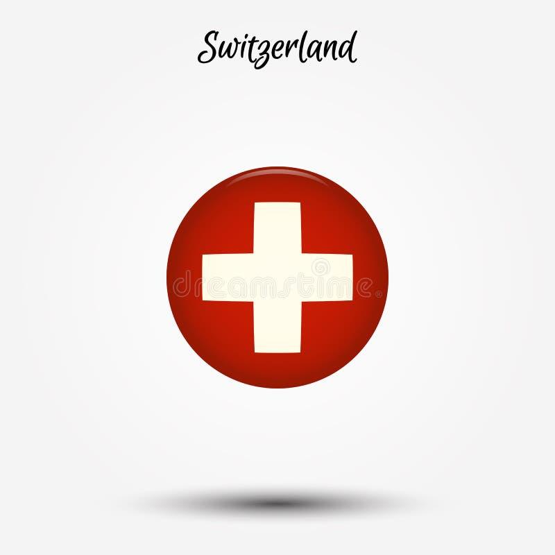 икона Швейцария флага иллюстрация вектора