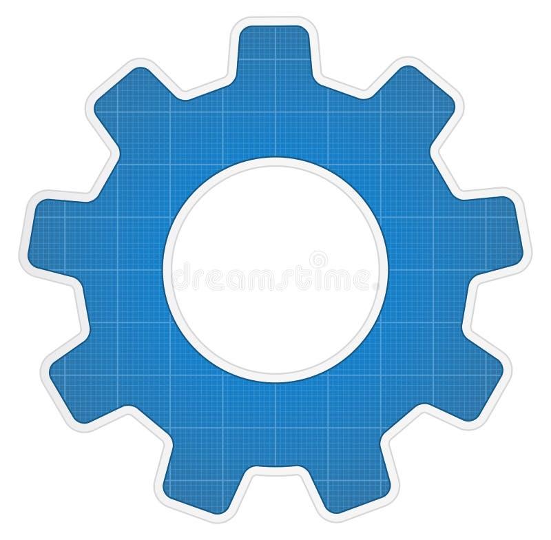 Икона шестерни светокопии иллюстрация штока