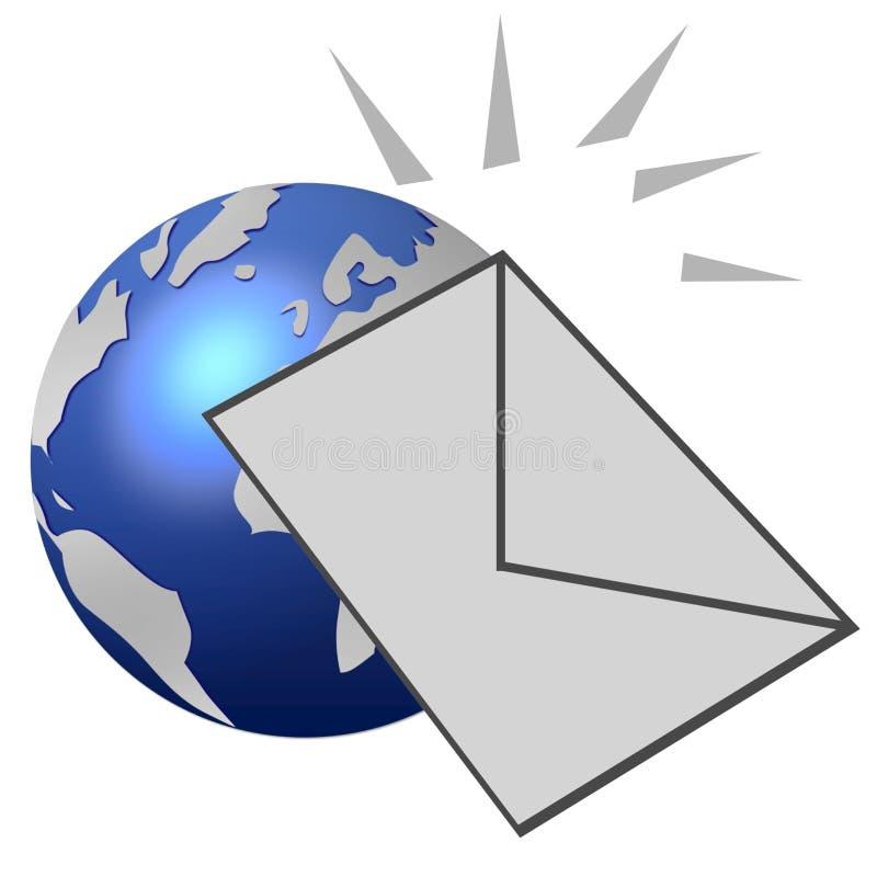 икона электронной почты иллюстрация штока