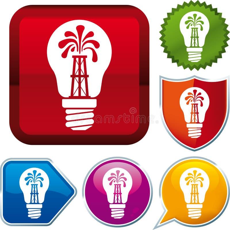 Икона энергии масла бесплатная иллюстрация