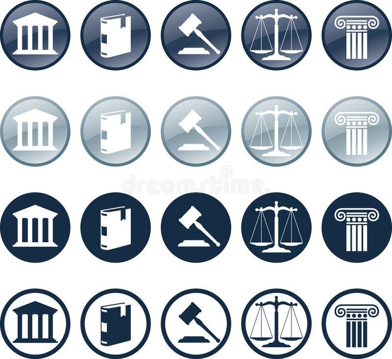 икона юриста иллюстрация вектора
