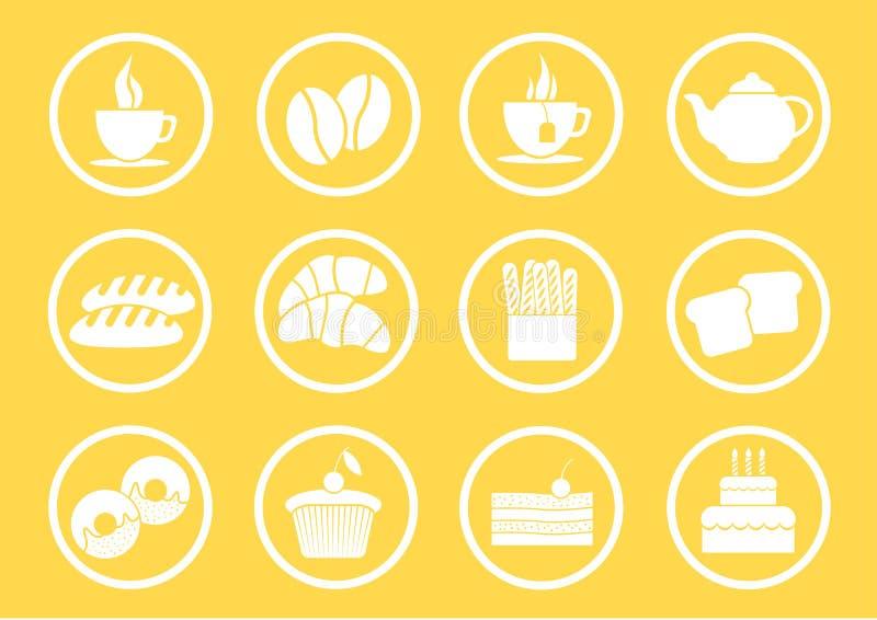 Икона для хлебопекарни иллюстрация вектора