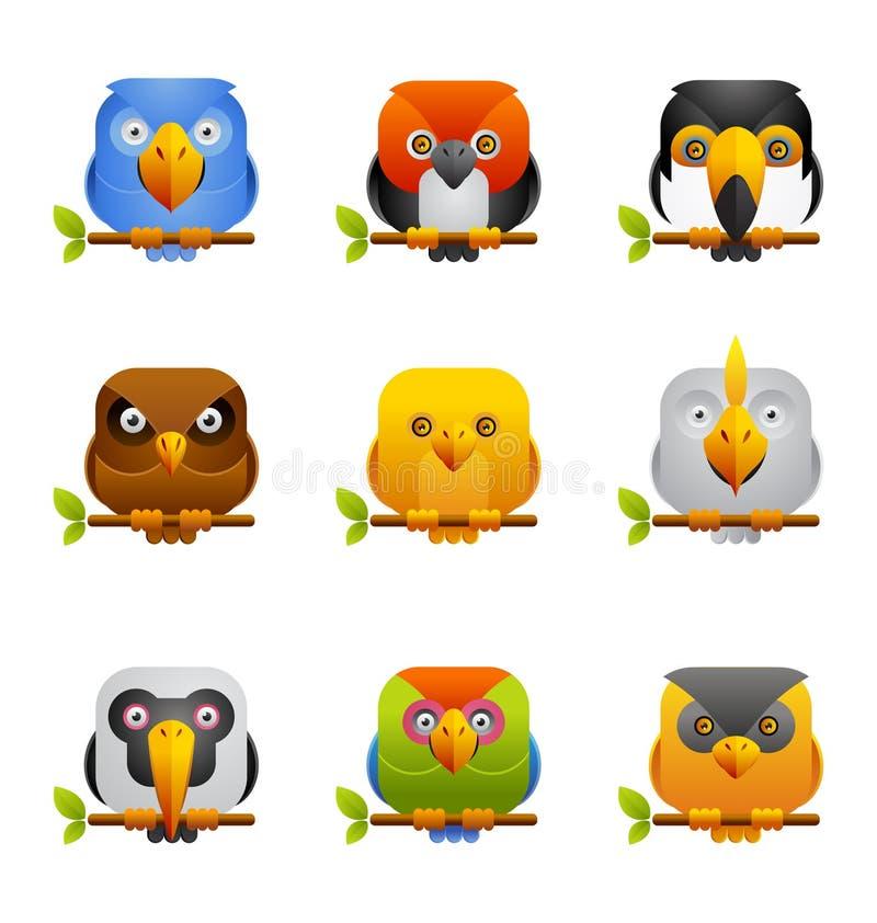 Икона 2 птиц иллюстрация штока