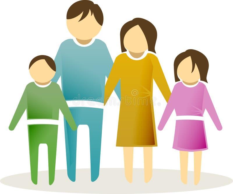 икона 2 семей иллюстрация вектора