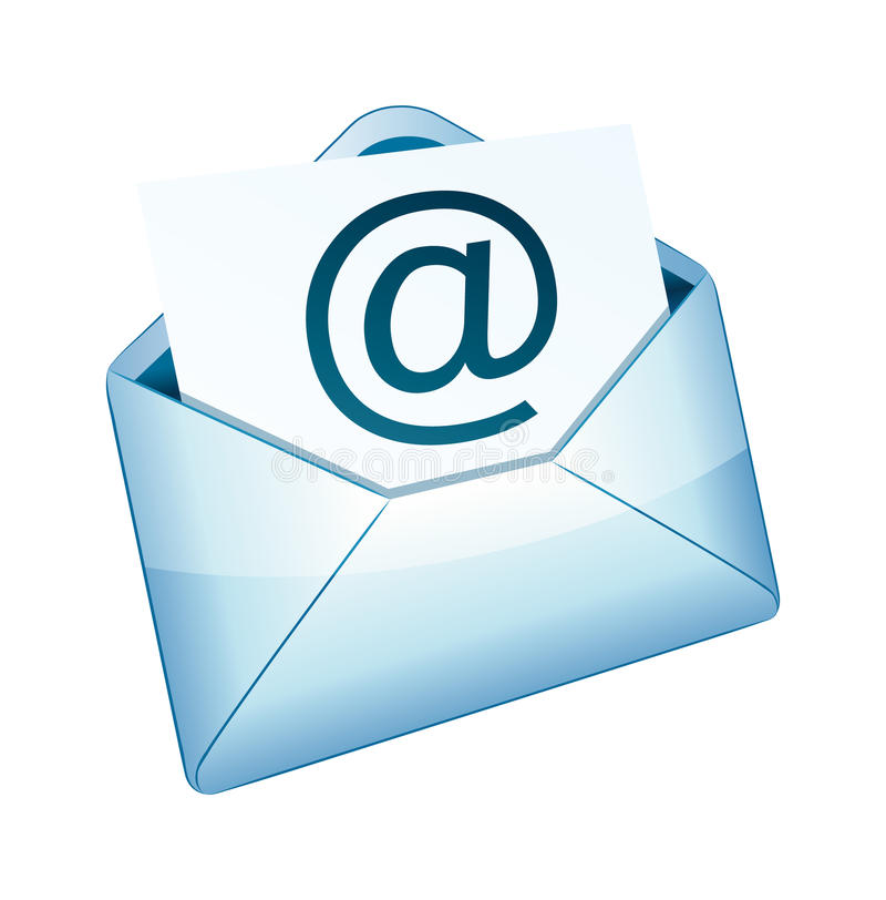 икона 2 электронных почт бесплатная иллюстрация