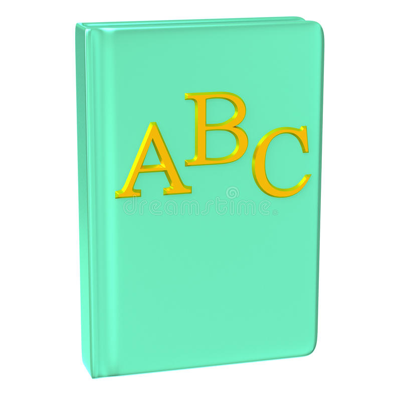 Икона 3d книги ABC иллюстрация вектора