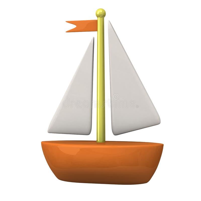 Икона 3d шлюпки бесплатная иллюстрация