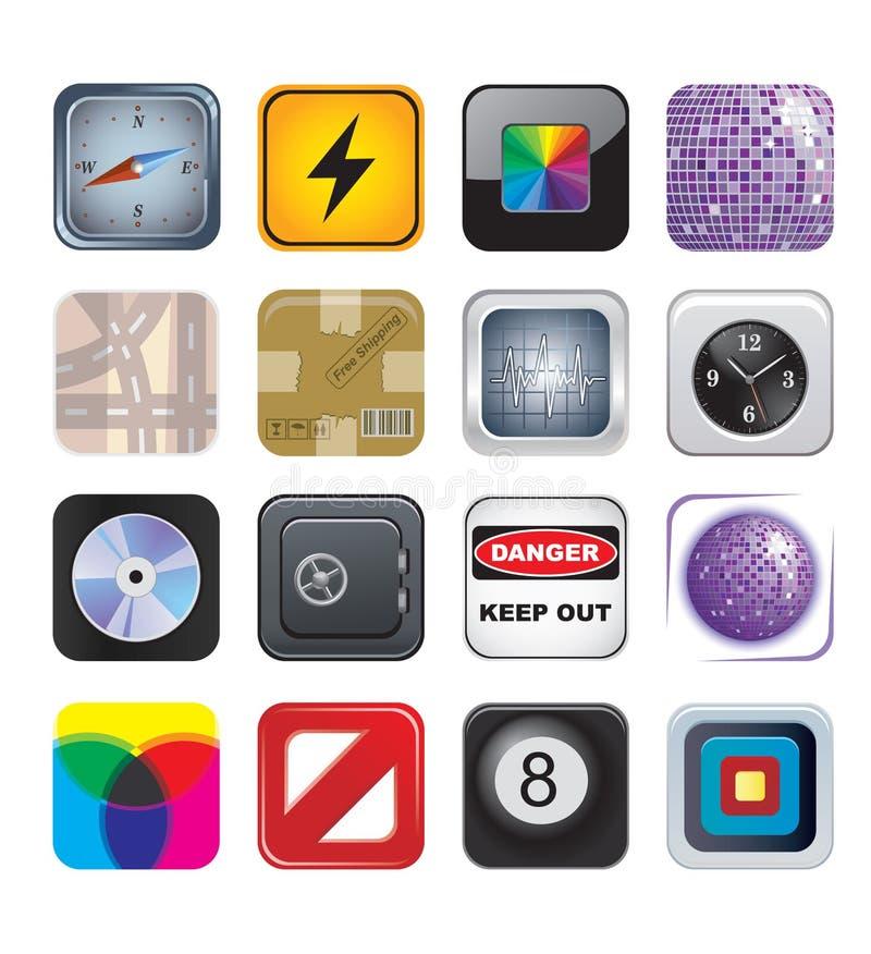 Икона Apps установила 2 бесплатная иллюстрация