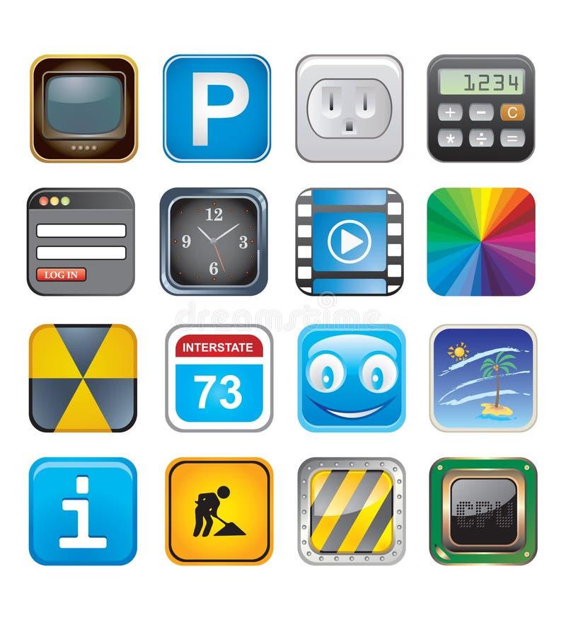 Икона Apps установила 3 иллюстрация штока